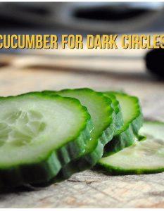 Get Rid Of Dark Circles Under Eyes With Cucumber