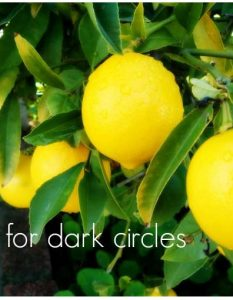 Use Lemon for Dark Circles Under Eyes