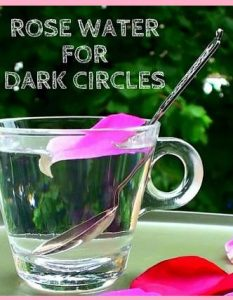 Rosewater for Dark Circles Under Eyes