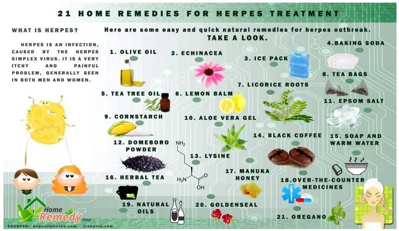 21 home remedies for the treatment of herpes